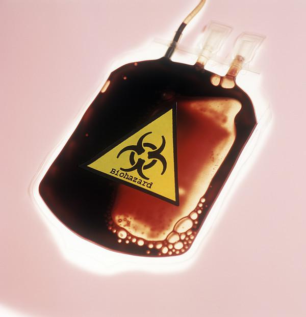 Contaminated Blood Print by Cristina Pedrazzini