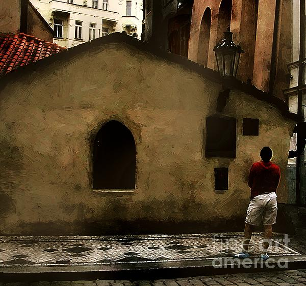 Contemplating Antiquity Print by RC DeWinter
