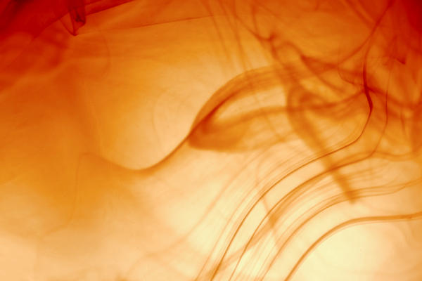 Contemporary Abstract Smoke Wisps Print by Tracie Kaska
