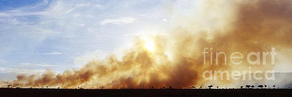 Controlled Burn Masai Mara Game Reserve Print by Jeremy Woodhouse