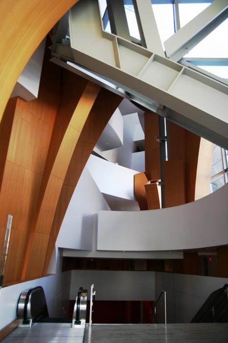 Foyer Interior Kit : Converge curves foyer disney concert hall interior