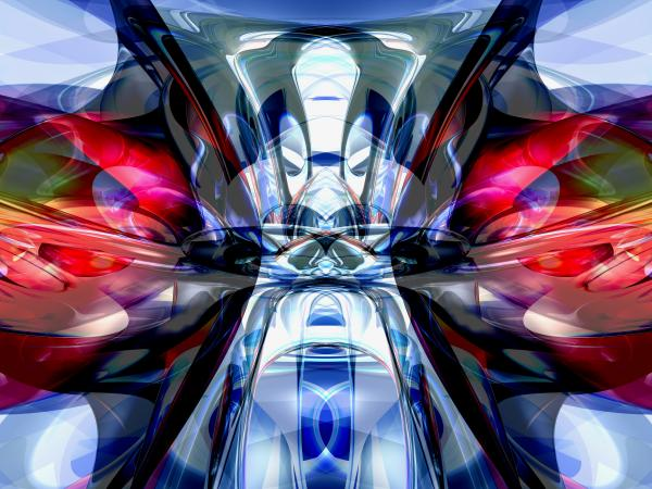 Convergence Abstract Print by Alexander Butler