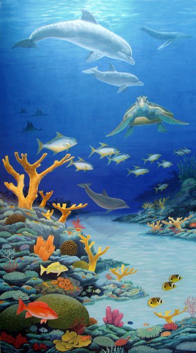 Coral reef mural for Coral reef mural