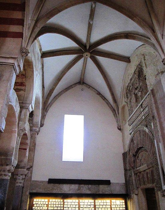 Cordoba Ancient High Ceiling Church Spain Print by John A Shiron