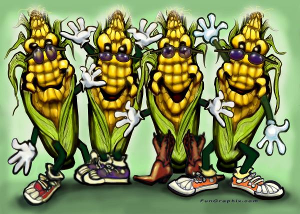 Corn Party Digital Art  - Corn Party Fine Art Print