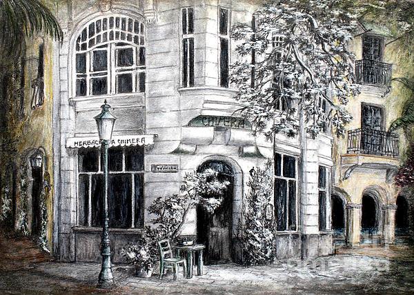 Corner Tea Print by Danuta Bennett