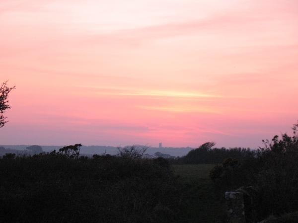 Cornish Sunset Print by Tony Payne