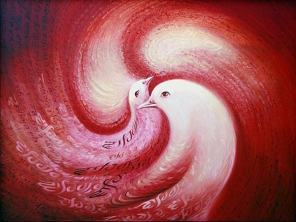 Cosmic Birds Of Swastika Print by S Jaswant