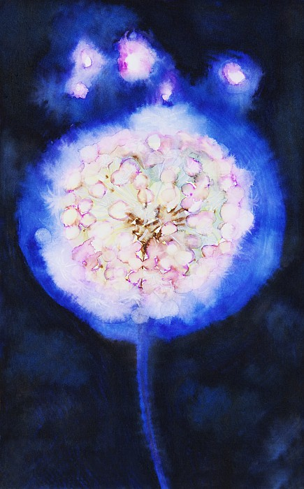 Cosmic Bloom Print by Tara Thelen