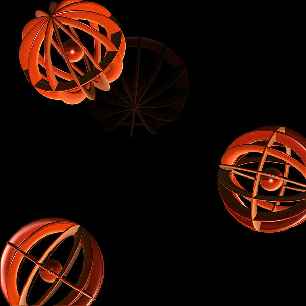 Cosmic Pumpkins By Jammer Print by First Star Art