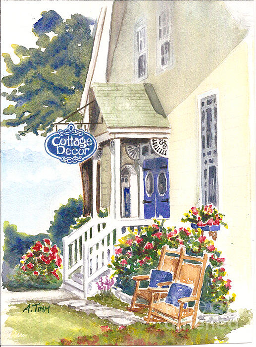 Cottage Decor Print by Andrea Timm