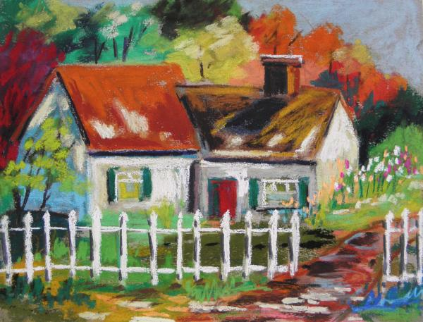 Cottage In The Sun Print by John  Williams