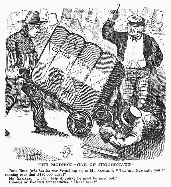 Cotton Loan Cartoon, 1865 Print by Granger