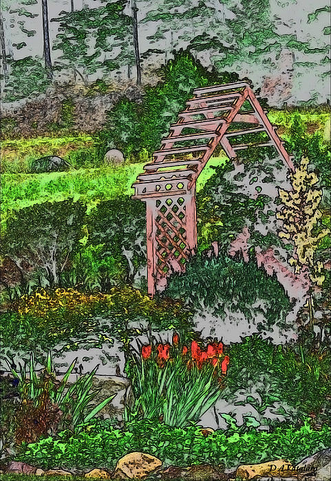 Country Gardens Print by Debra     Vatalaro