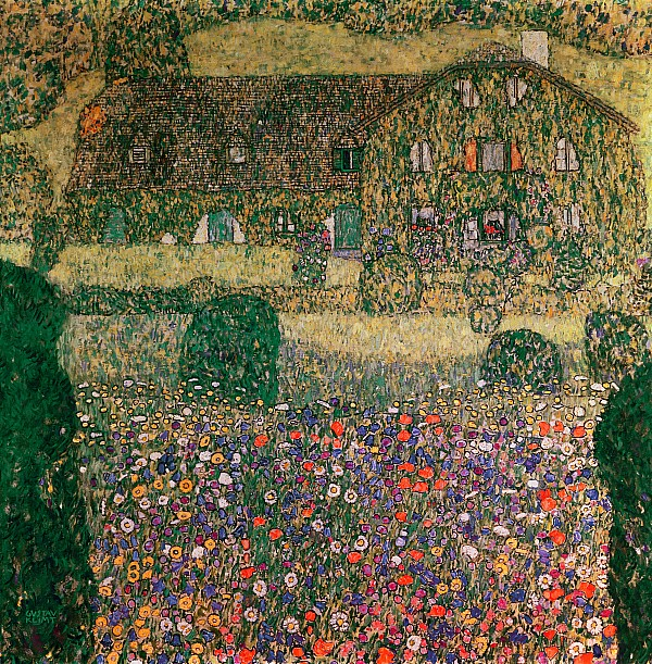 Country House By The Attersee Print by Gustav Klimt