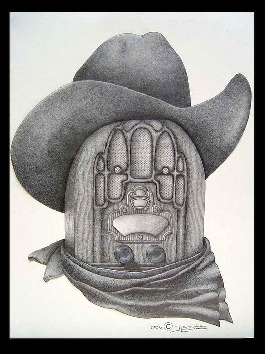 Country Radio Print by Diana Lehr