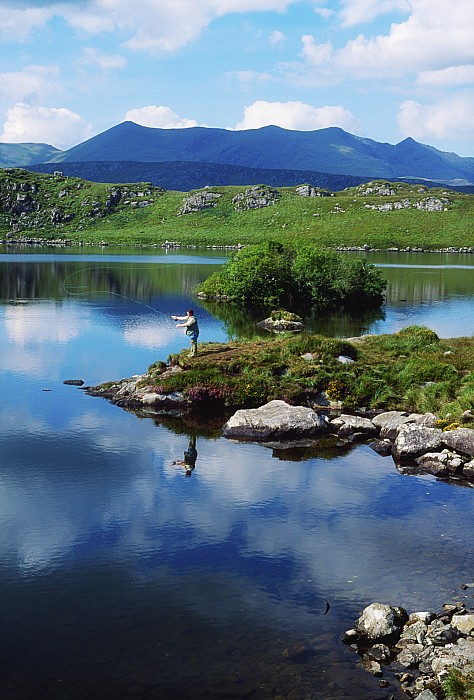 County Kerry, Ireland Fishing On Print by Sici
