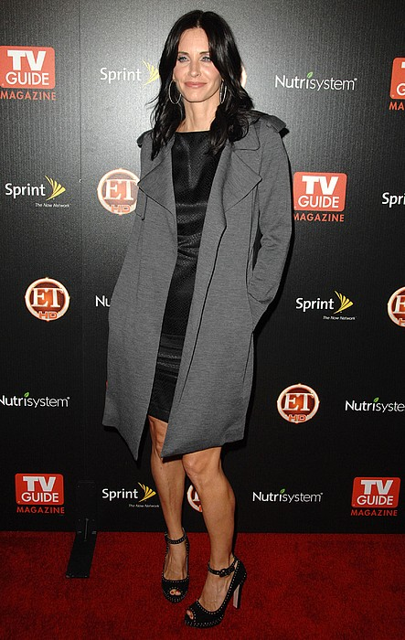 Courteney Cox At Arrivals For Tv Guides Print by Everett
