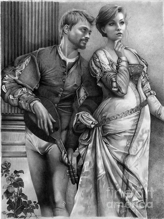 Courting Print by David Vanderpool