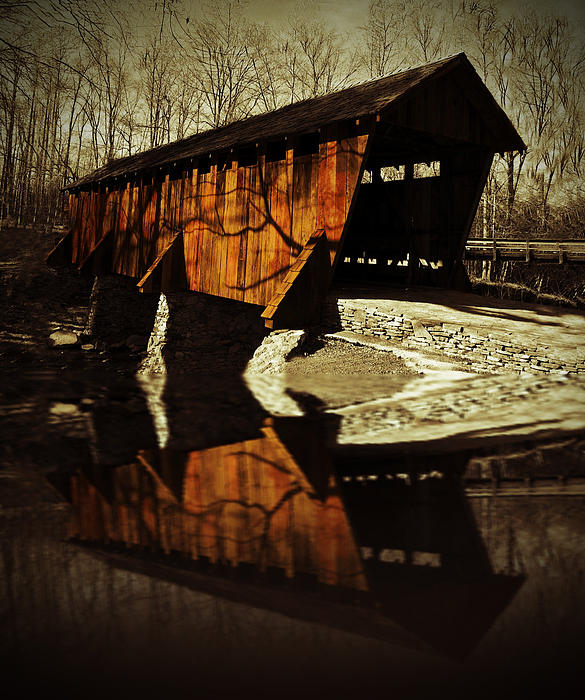 Coverd Bridge Print by Julian Bralley