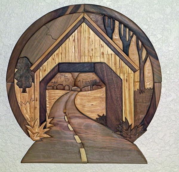 Covered Bridge Print by Bill Fugerer