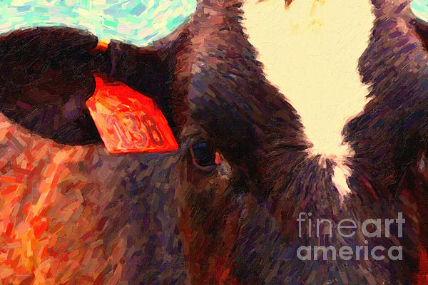 Cow 138 Reinterpreted Print by Wingsdomain Art and Photography
