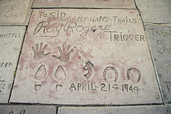 Cowboy Actor Roy Rogers Hand Print by Everett