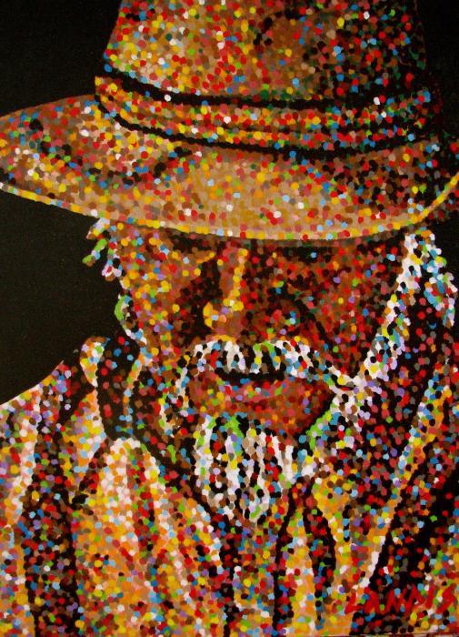 Cowboy Vi Print by Denise Landis