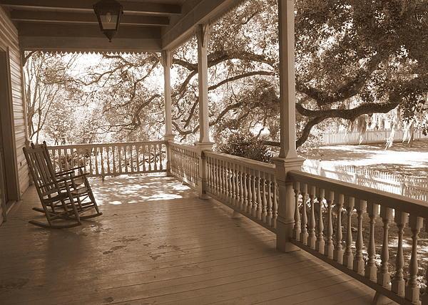 Cozy Southern Porch Print by Carol Groenen