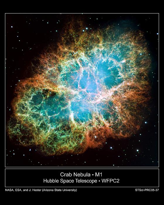 Crab Nebula - Hubble Sapce Telescope Print by ilendra Vyas