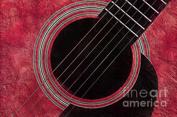 Cranberry Guitar Print by Andee Design