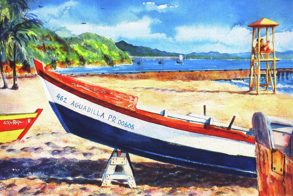 Crash Boat Beach Print by Estela Robles