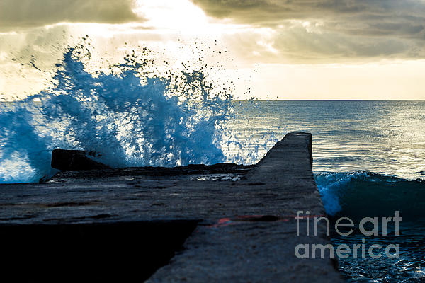 Crashing Blue Print by Rene Triay Photography