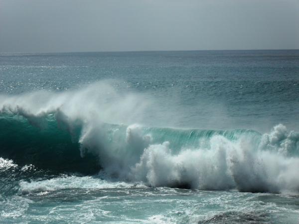 Crashing Wave At Ka Ena Beach By Carol Brown