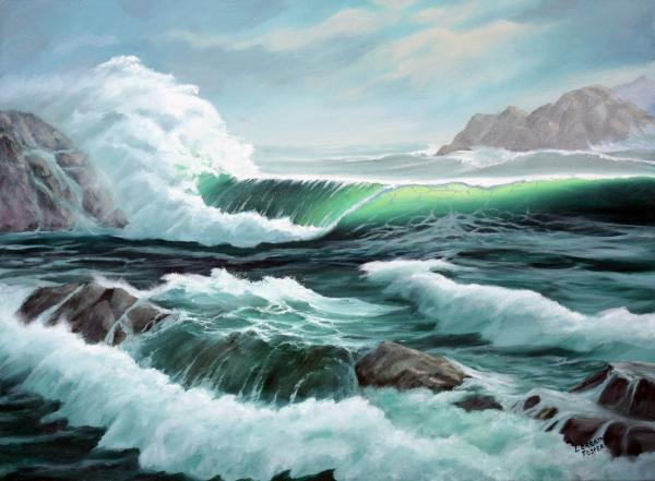 Impression Water Wave Painting