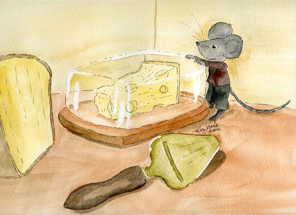 Craving Cheese Print by Eva Ason
