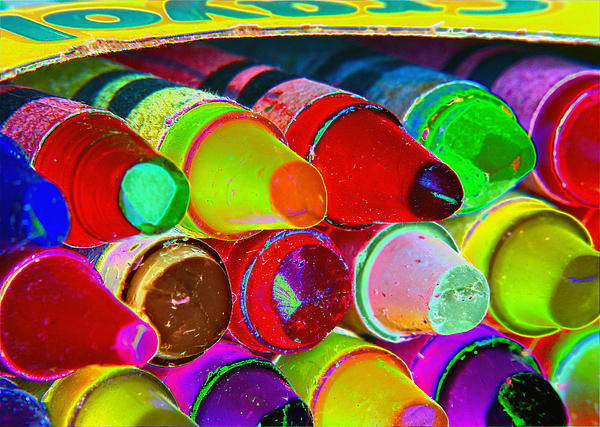 crayons retro II Print by Bill Owen