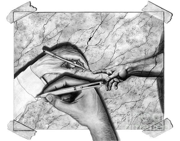 Creators Hand At Work Print by Peter Piatt