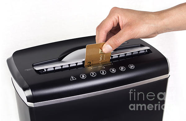 Credit Card Cutting Print by Blink Images