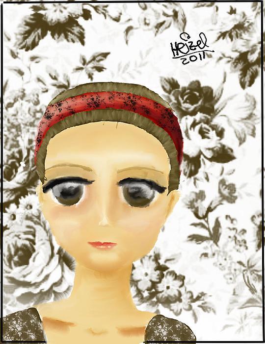 Creepy Face Print by Heizel Gonzalez