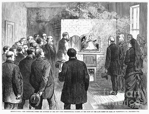 Cremation, 1876 Print by Granger
