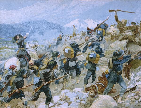 Crimean War And The Battle Of Chernaya Print by Italian School