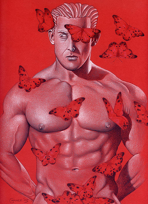 Crimson Flight Print by Chance Manart