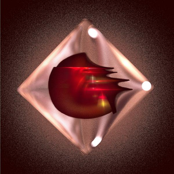 Crimson Heart Print by Viktor Savchenko