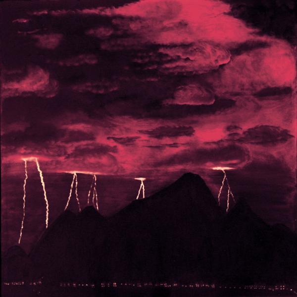 Crimson Storm Print by Dawn Hay