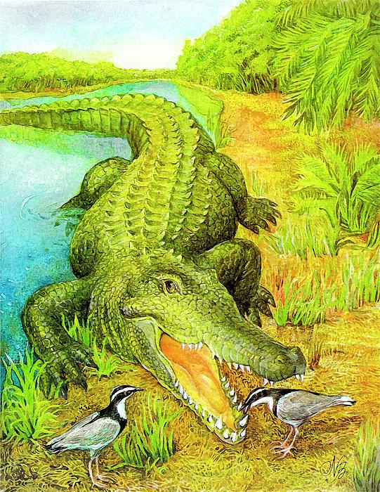 Crocodile Print by Natalie Berman