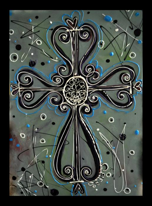 Cross my heart by amanda sanford for Cross paintings on canvas