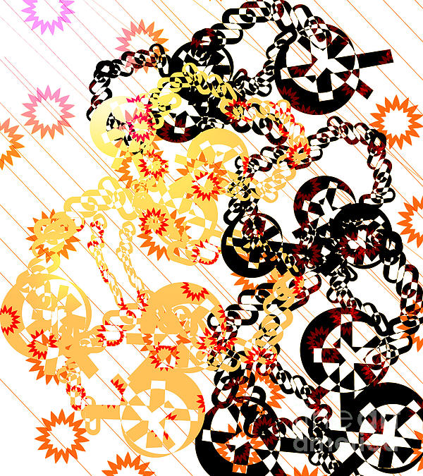 Crosses And Chains Print by Melissa  Hardiman