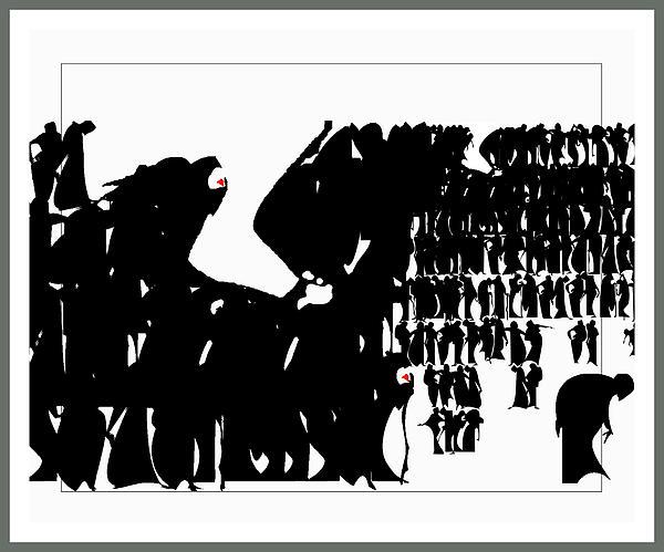 Crowd Print by Olena Kulyk