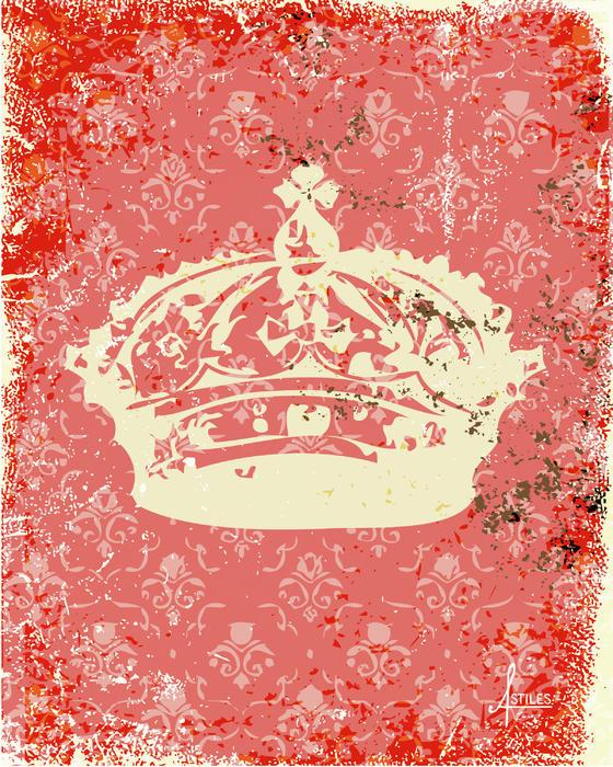 Crown Print by Adrienne Stiles